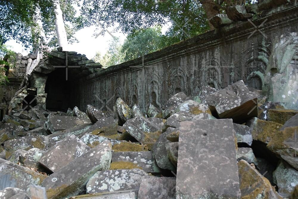 Fallen Building, Siem Reap, Cambodia by SweetLemon