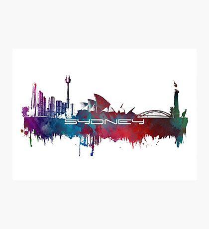 Sydney skyline city blue Photographic Print
