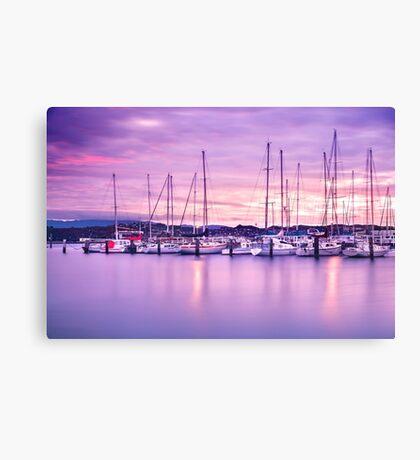 Evans Bay Marina Sunrise Canvas Print