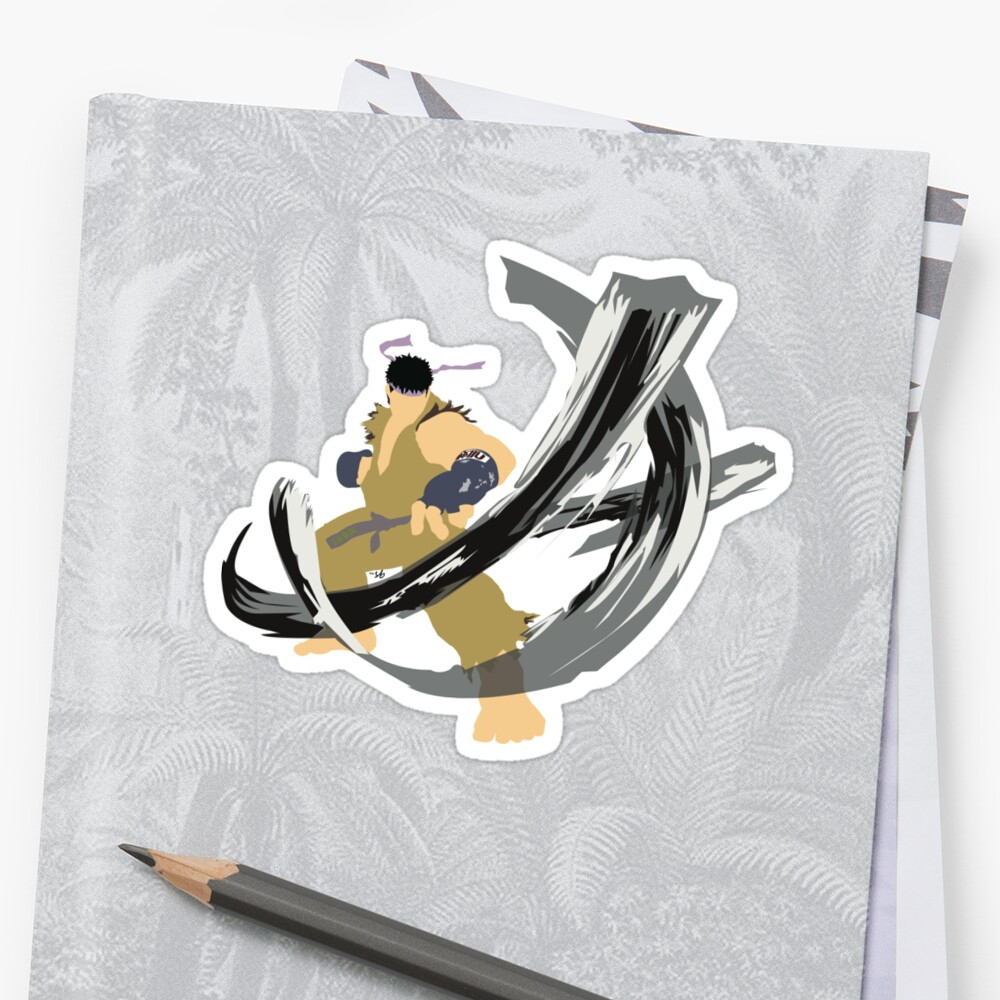 Ryu Alt 7 Stickers By Solix Bass Redbubble