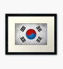 Korean flag Framed Print