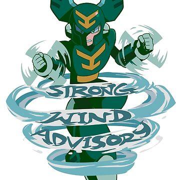 Tornado Man's Strong Wind Advisory  by bonus-level