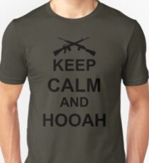 Keep Calm and Hooah - Army Unisex T-Shirt