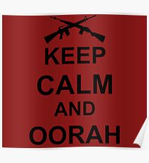 Keep Calm and Oorah - Marines Poster