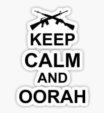 Pegatina Mantenga la calma y Oorah - Marines