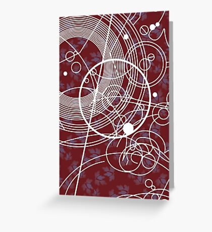 Ten Tie Gallicush - Maroon (Card) Greeting Card