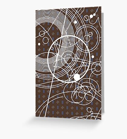 Ten Tie Gallicush - Brown (Card) Greeting Card