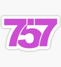 757 Sticker Pink Sticker