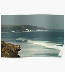 Joe Mortelliti Gallery - Rough weather at Cape Sir William Grant, near Portland, Victoria's west coast, Australia.  Poster