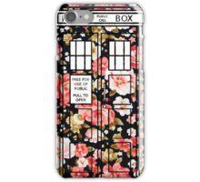 Floral TARDIS 2 iPhone Case/Skin