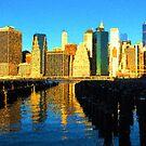 Bright and Sunny New York City Skyline - Impressions Of Manhattan by Georgia Mizuleva
