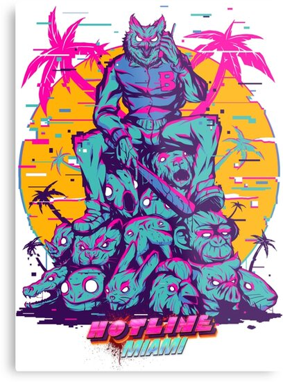hotline miami metal prints by summerfreeze redbubble