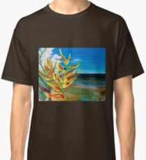 Heliconia Tropical Parrot Plant Take Me There Classic T-Shirt