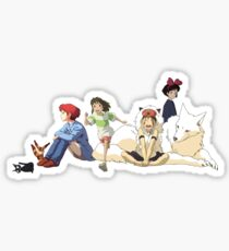 Ghibli Girls Sticker