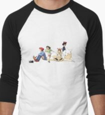 Ghibli Girls Men's Baseball ¾ T-Shirt