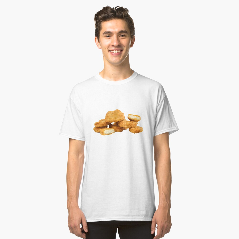 Camiseta clásicaNugget de pollo Delante