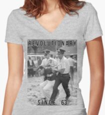 Bernie Sanders - Revolutionary Since '63 Women's Fitted V-Neck T-Shirt