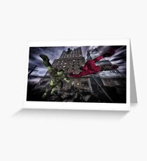 Classic Superheroes   Greeting Card