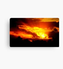 Sunset at Champion Lakes Canvas Print