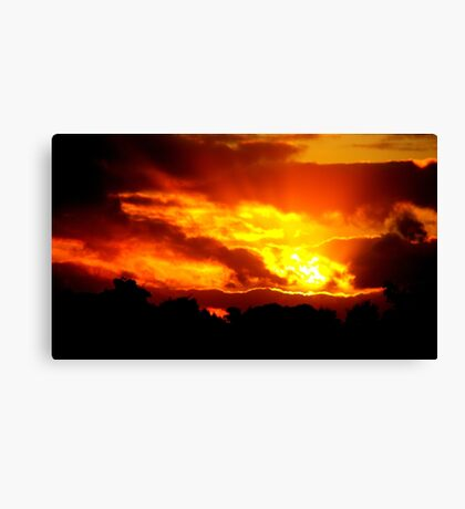 Sunset at Champion Lakes Canvas Print