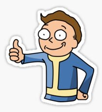 Vault Morty Sticker