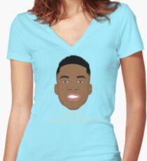 Giannis Pronunciation Women's Fitted V-Neck T-Shirt