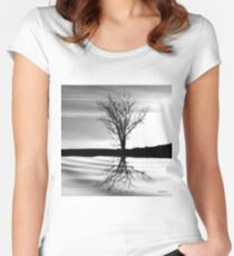 At End of Day III (Image & Poem) Women's Fitted Scoop T-Shirt