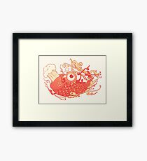 Japanese Red Carp Framed Print