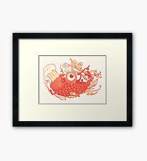 Japanese Red Carp Framed Print