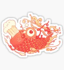 Japanese Red Carp Sticker