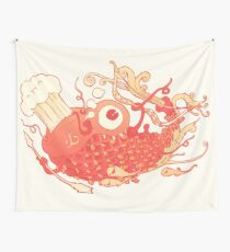 Japanese Red Carp Wall Tapestry