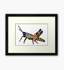 Surreal Grasshopper Framed Print