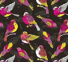 Funny sparrows by fraulein-freya