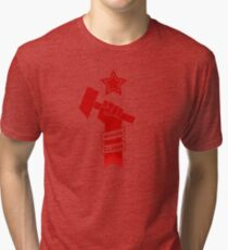 Raised Fist of Protest - Working Class Tri-blend T-Shirt