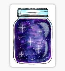 Purple Galaxy Jar Sticker