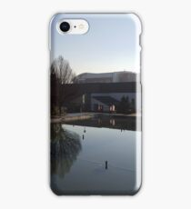 A cold and still morning over the University of Leeds iPhone Case/Skin
