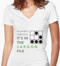 It's In The Jargon File Women's Fitted V-Neck T-Shirt
