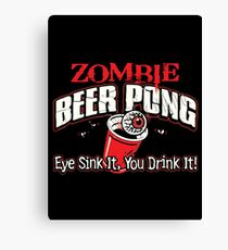 zombie pong Canvas Print