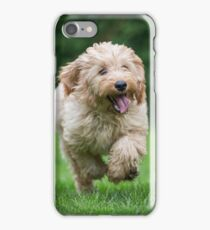Cockapoo running iPhone Case/Skin