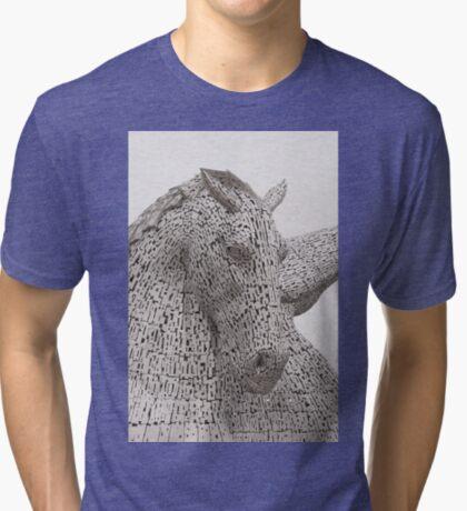The Kelpies , Helix Park , Falkirk Tri-blend T-Shirt
