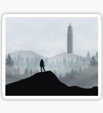 The 100 - Flat Landscape Sticker