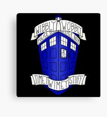 Whibly Whobly Tardis Canvas Print