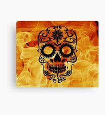 Fire Skull Canvas Print