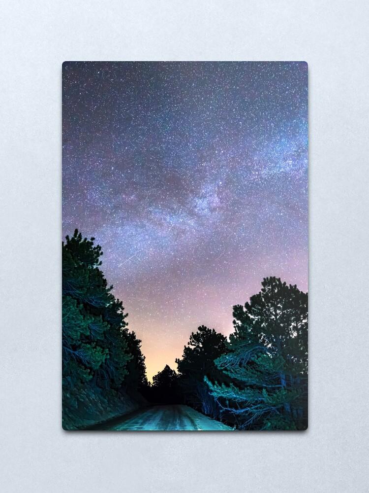 Alternate view of Forest Night Light Metal Print