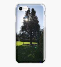 Winter Sun over Rowntree Park iPhone Case/Skin