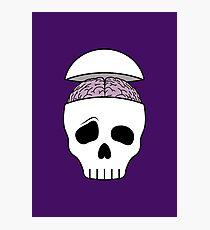 Brainy Skull Photographic Print
