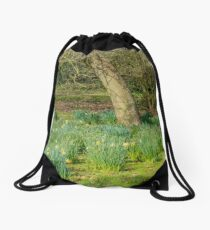 Spring in the Park Drawstring Bag