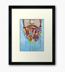 Flower Beard Man Framed Print