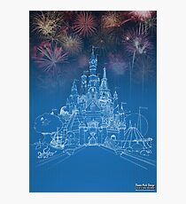 Theme Park Castle Photographic Print