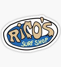 Rico's Surf Shop Logo Sticker